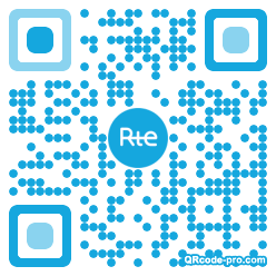 QR code with logo 17x90
