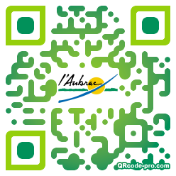 QR code with logo 18tW0