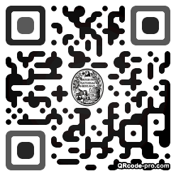 QR code with logo 1Ax20