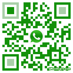 QR code with logo 1B180