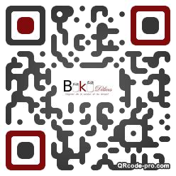QR code with logo 1B3v0
