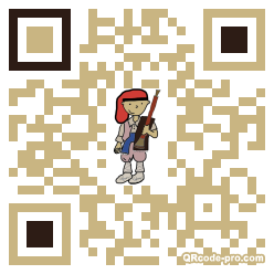 QR code with logo 1B4J0