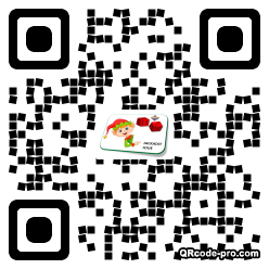 QR code with logo 1BE00