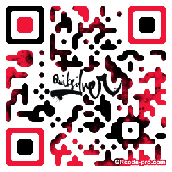 QR code with logo 1BHQ0
