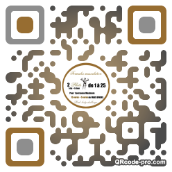 QR code with logo 1DV40
