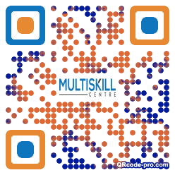 QR code with logo 1HEV0