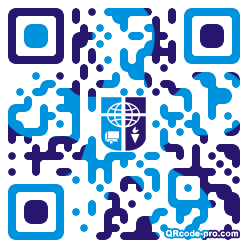 QR code with logo 1KM40