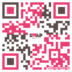 QR code with logo 1M3g0