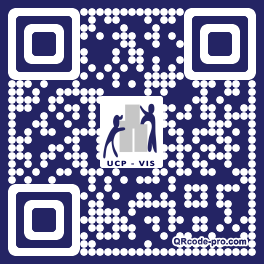 QR code with logo 1NM70
