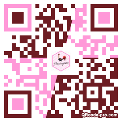 QR code with logo 1NWS0