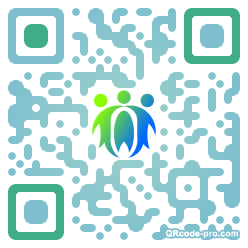 QR code with logo 1P2r0