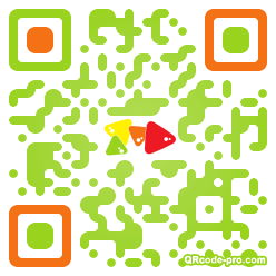 QR code with logo 1P300