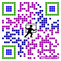 QR code with logo 1PT80