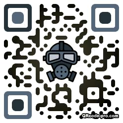 QR code with logo 1RI00