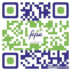 QR code with logo 1RQA0