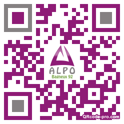 QR code with logo 1Rzk0
