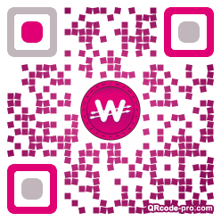 QR code with logo 1S3M0