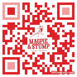 QR code with logo 1TVQ0