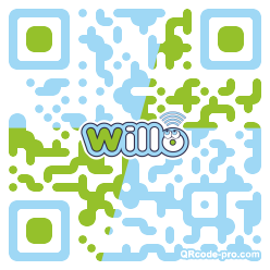 QR code with logo 1TZH0
