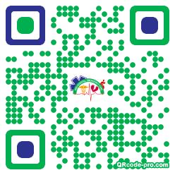 QR code with logo 1U6X0