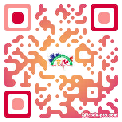 QR code with logo 1Uaw0