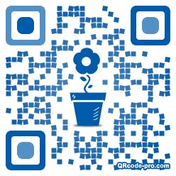 QR code with logo 1V3Z0