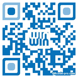 QR code with logo 1VRs0