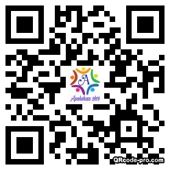 QR code with logo 1VVH0