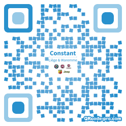 QR code with logo 1W690