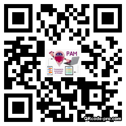 QR code with logo 1YWW0
