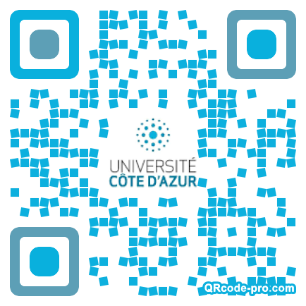 QR code with logo 1Z980
