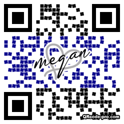 QR code with logo 1ZB00