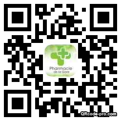 QR code with logo 1h070