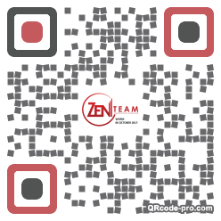 QR code with logo 1h4w0