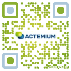 QR code with logo 1km80