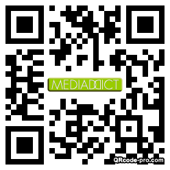 QR code with logo 1m750