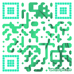 QR code with logo 1p180