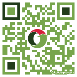 QR code with logo 1r090