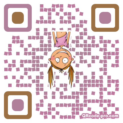 QR code with logo 20x80
