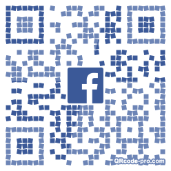 QR code with logo 21X90
