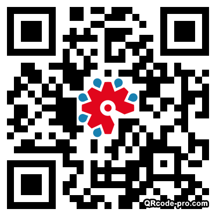 QR code with logo 22Vp0