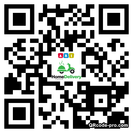 QR code with logo 22Wk0