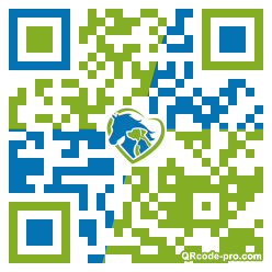 QR code with logo 22bR0