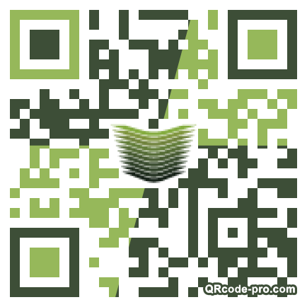 QR code with logo 23x40
