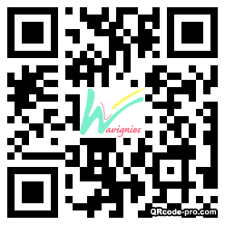 QR code with logo 24x80