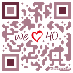 QR code with logo 25Xm0