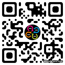QR code with logo 28Hl0