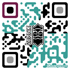QR code with logo 2hj80