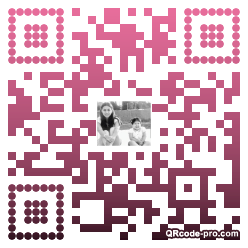 QR code with logo 2wv80