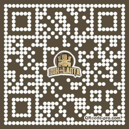QR code with logo 33X70